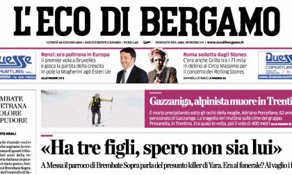 Le prime pagine di oggi lunedì 23 giugno 2014