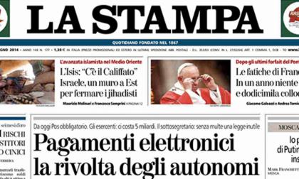 Le prime pagine di oggi Lunedì 30 giugno 2014