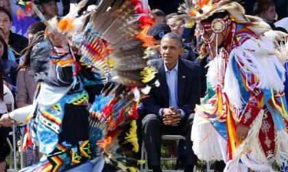 Obama e i capi indiani riuniti sotto un'unica bandiera