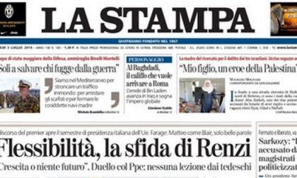 Le prime pagine di oggi giovedì 3 luglio 2014