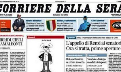Le prime pagine di oggi martedì 29 luglio 2014