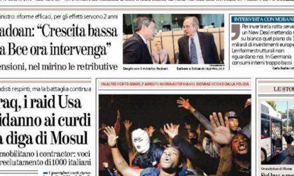 Le prime pagine di oggi lunedì 18 agosto 2014