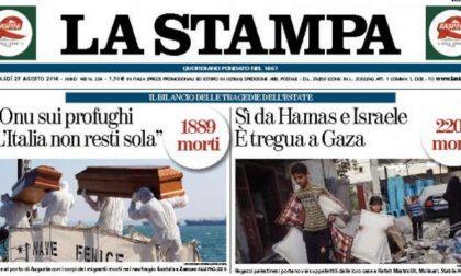 Le prime pagine di oggi mercoledì 27 agosto 2014
