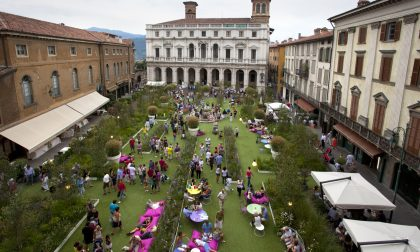 Un giardino a Piazza Vecchia