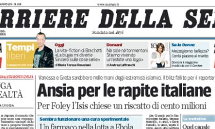 Le prime pagine di oggi venerdì 22 agosto 2014