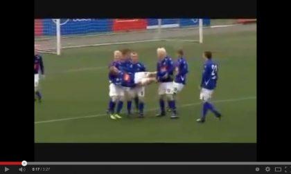 Le pazze esultanze dopo i gol della squadra che sfiderà l'Inter