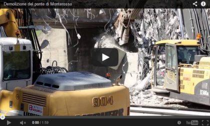 Il video della demolizione del Ponte di Monterosso