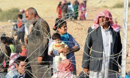 Curdi in fuga dalla Siria alla Turchia