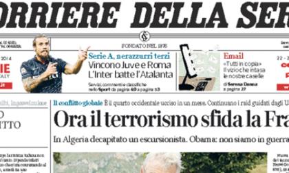 Le prime pagine di oggi giovedì 25 settembre 2014