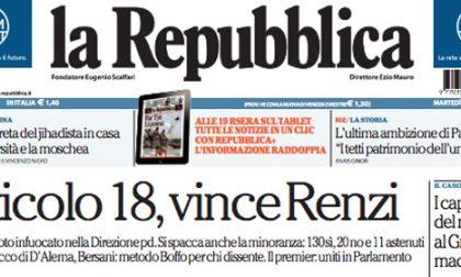 Le prime pagine di oggi martedì 30 settembre 2014