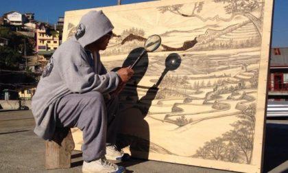 L'uomo che dipinge con il sole