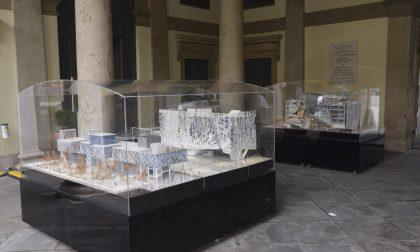 I modelli esposti a Palafrizzoni dei padiglioni Zero e Italia di Expo