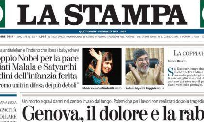 Le prime pagine di oggi sabato 11 ottobre 2014