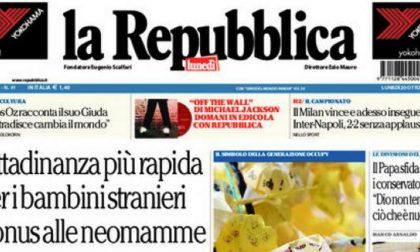 Le prime pagine di oggi lunedì 20 ottobre 2014
