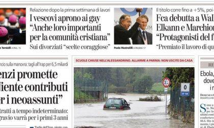 Le prime pagine di oggi martedì 14 ottobre 2014