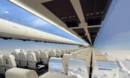 """L'aereo del futuro """"senza pareti"""" E i suoi cieli mozzafiato"""