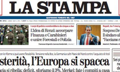 Le prime pagine di oggi giovedì 2 ottobre 2014