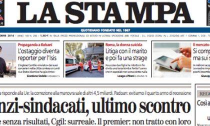 Le prime pagine di oggi martedì 28 ottobre 2014