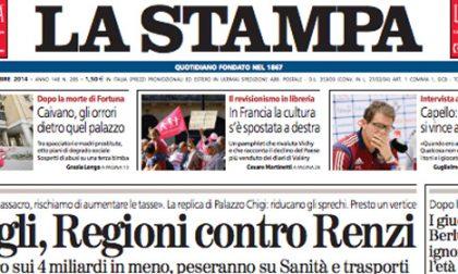 Le prime pagine di oggi venerdì 17 ottobre 2014