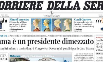 Le prime pagine di oggi giovedì 6 novembre 2014