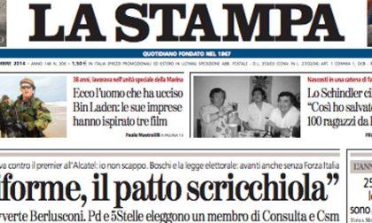 Le prime pagine di oggi venerdì 7 novembre 2014