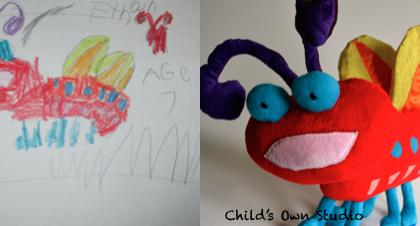 L'artista che trasforma in pupazzi i fantasiosi disegni dei bambini