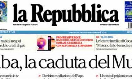Le prime pagine di oggi giovedì 18 dicembre 2014