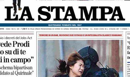 Le prime pagine di oggi martedì 16 dicembre 2014