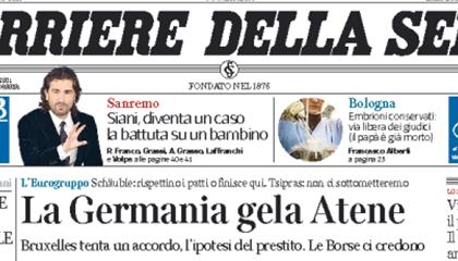 Le prime pagine di oggi mercoledì 11 febbraio 2015