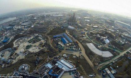 Le incredibili foto aeree del nuovo Shanghai Disneyland
