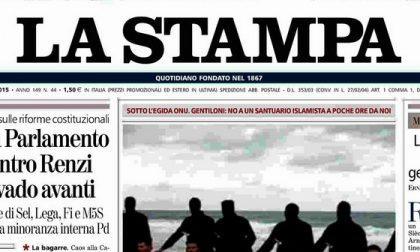 Le prime pagine di oggi sabato 14 febbraio 2015