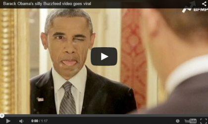 Il video di Obama che fa le smorfie per promuovere una cosa seria