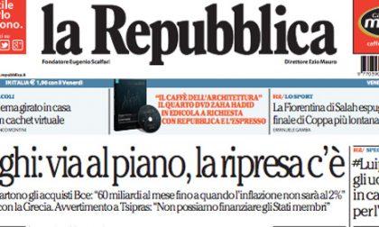 Le prime pagine di oggi venerdì 6 marzo 2015