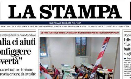 Le prime pagine di oggi martedì 14 aprile 2015
