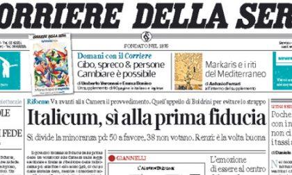 Le prime pagine di oggi giovedì 30 aprile 2015