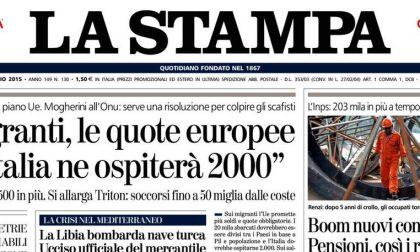 Le prime pagine di oggi martedì 12 maggio 2015