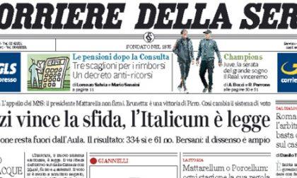 Le prime pagine di oggi martedì 5 maggio 2015