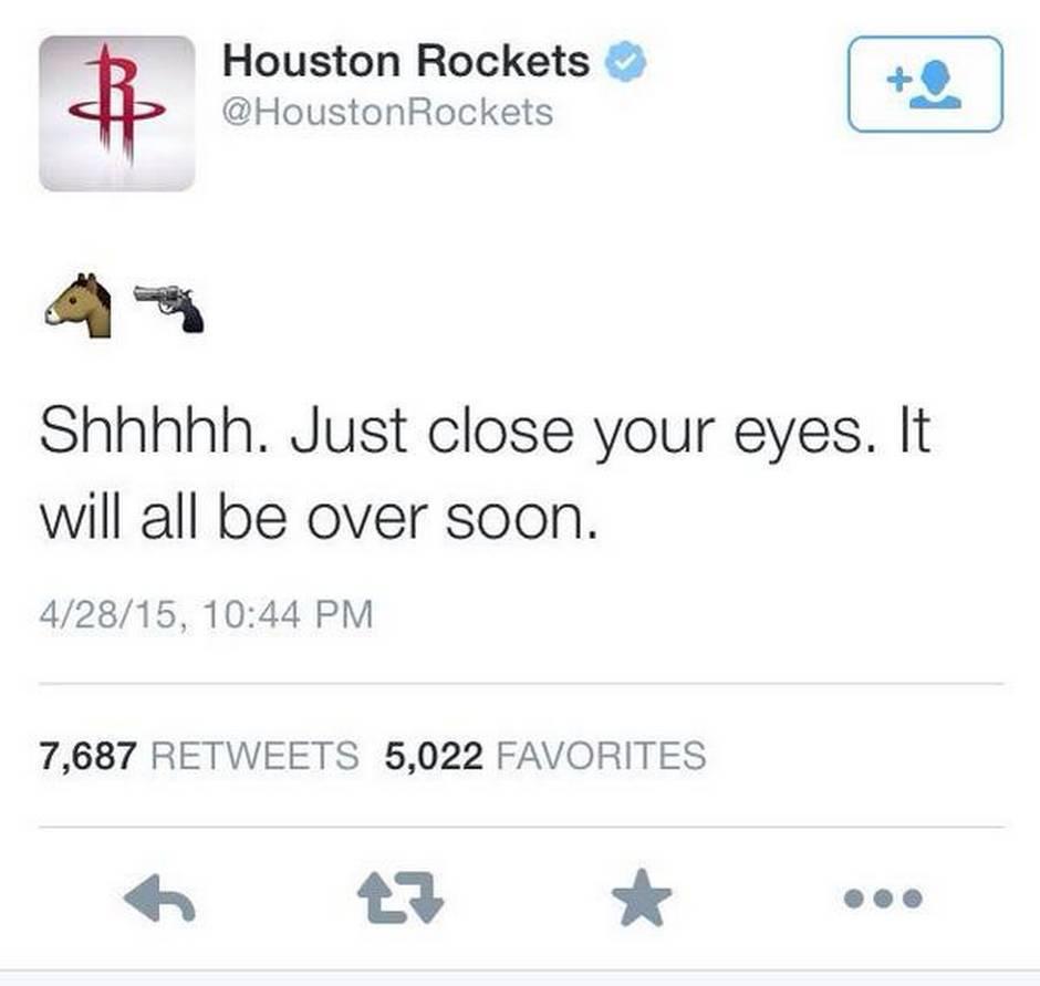 tweet houston rockets