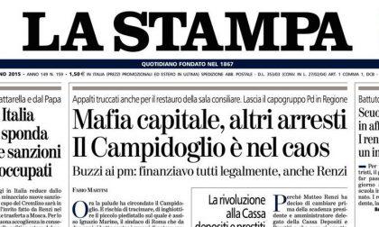 Le prime pagine dei giornali mercoledì 10 giugno 2015
