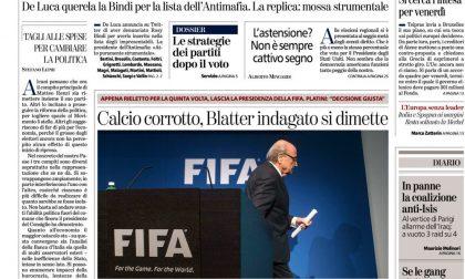 Le prime pagine dei giornali mercoledì 3 giugno 2015