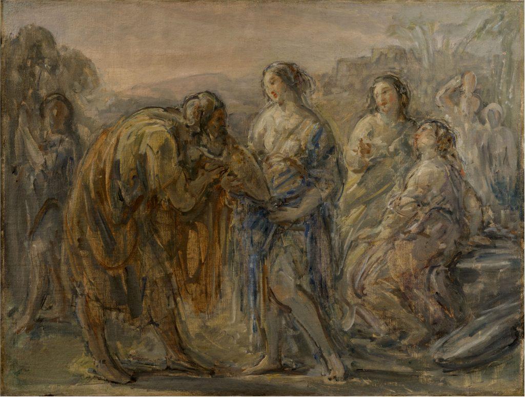 Rebecca e il servo di Abramo