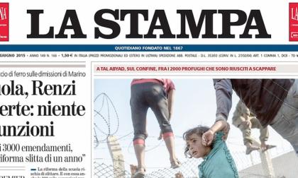Le prime pagine dei giornali mercoledì 17 giugno 2015
