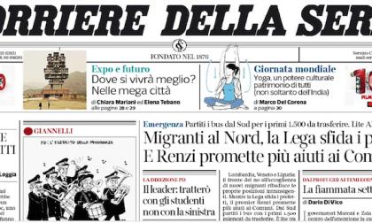 Le prime pagine dei giornali martedì 9 giugno 2015