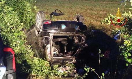 Incidente stradale nel comune di Sesto Calende (Va)
