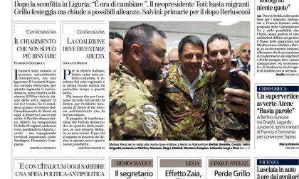 Le prime pagine dei giornali martedì 2 giugno 2015