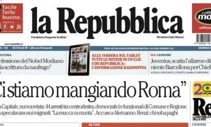 Le prime pagine dei giornali venerdì 5 giugno 2015