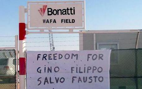 ''Freedom for Gino, Filippo, Salvo e Fausto''