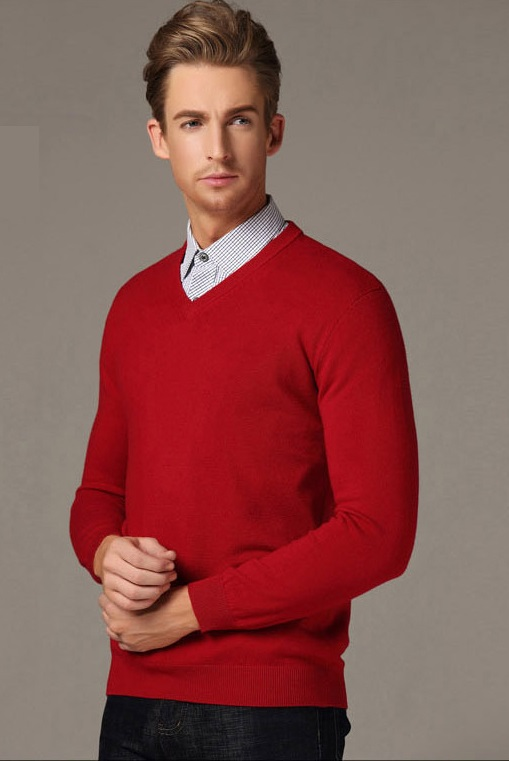 Men-Pullover-Large-Size-2XL-V-Neck-Brand-Business-Mens-Jumper-Sweater-Slim-Fit-Man-Sweaters