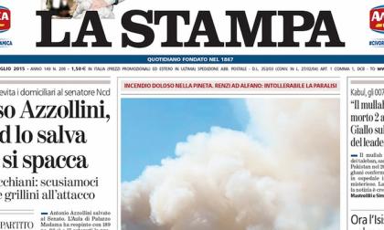 Le prime pagine dei giornali giovedì 30 luglio 2015
