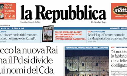 Le prime pagine dei giornali mercoledì 5 agosto 2015
